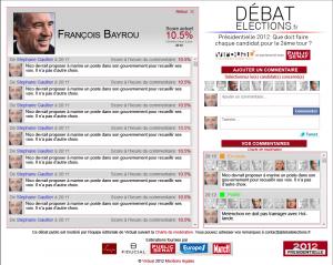 Pag de débat sur un candidat (données fictives)